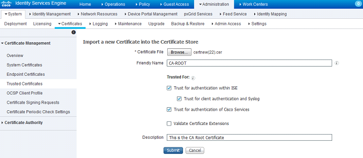 Ise 20 initial configuration adding certificates to ise now that weve add the ca certificate to the trusted certificate store we can now issue a certificate signing request csr and bind the resulting yelopaper Gallery