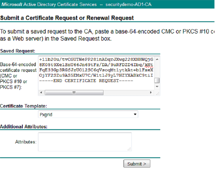 Ise 20 initial configuration adding certificates to ise copy the csr into the base 64 encoded certificate request field and this time we will be using the pxgrid certificate template yelopaper Images
