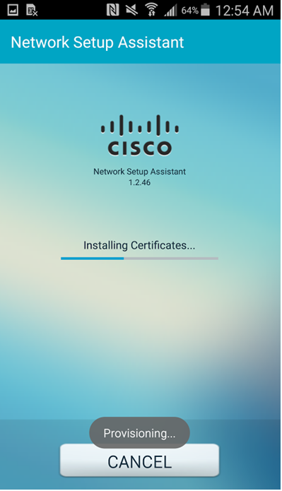 Step 5 - The Network Assistant downloads the certificate from ISE via SCEP and reconnects them to the network (One time only)