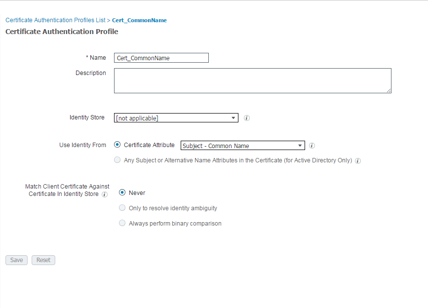 Ise 20 Initial Configuration Creating Certificate Authentication