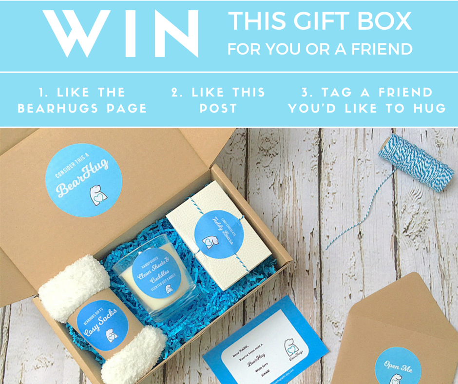 bearhugs facebook giveaway of cosy gift box