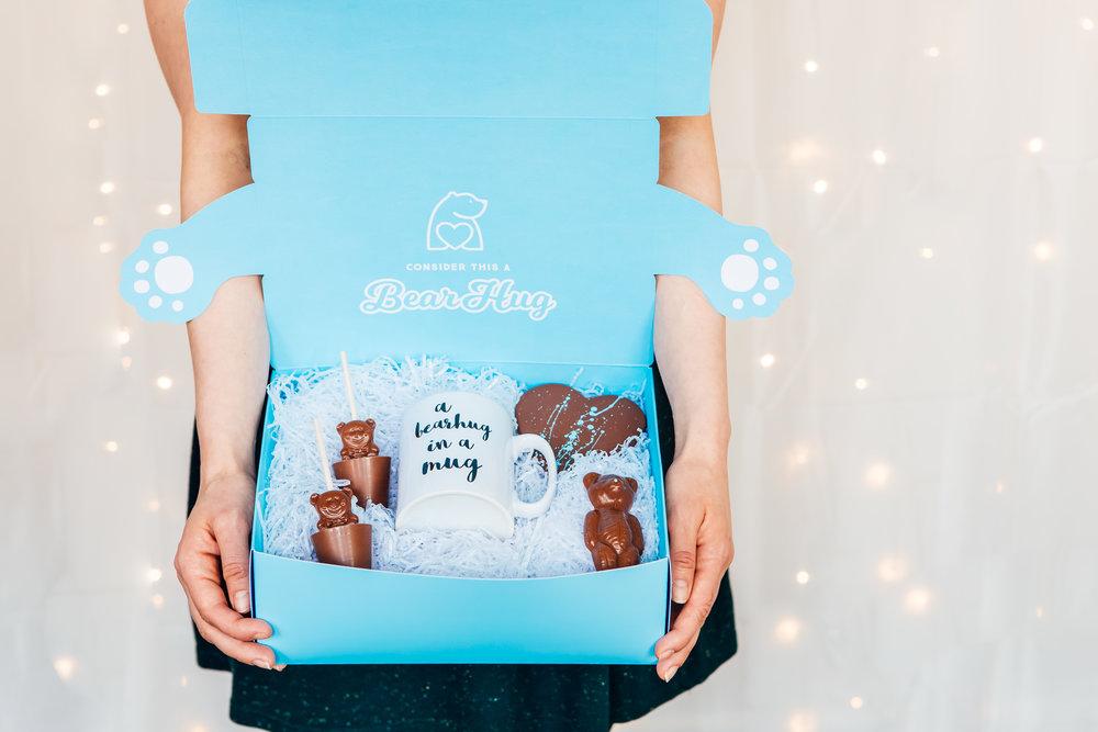 chocolate dandelion cocoa bearhug cheer up gift send a hug