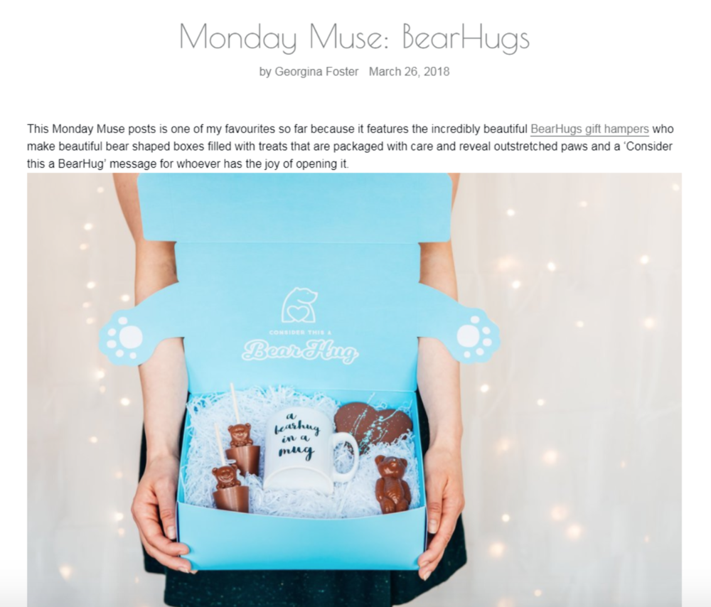 beauxoxo Monday muse post bearhugs unique thoughtful birthday gifts to send