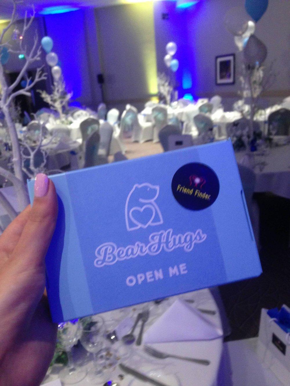 bearhugs friend finder prom 1:50 hug in a box donation scheme