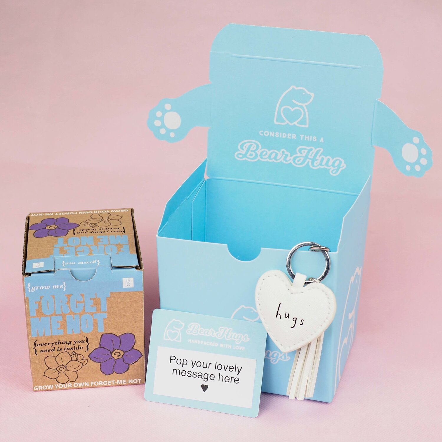Forget-Me-Not Hug in a Box — BearHugs | Send a 'Hug in a Box' Thinking of  You Gift by Post