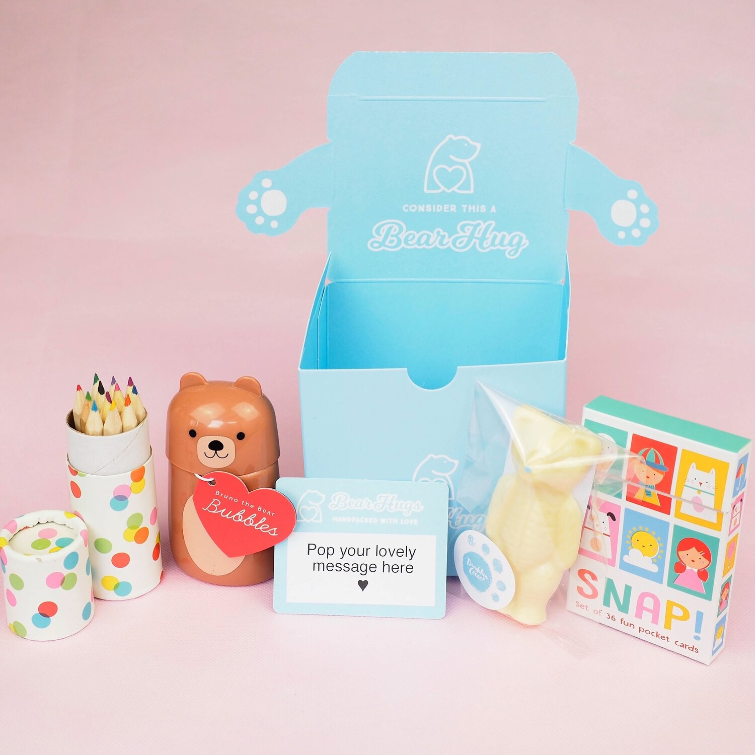 Snap, Scribble and Pop! Hug in a Box — BearHugs | Send a 'Hug in a Box'  Thinking of You Gift by Post
