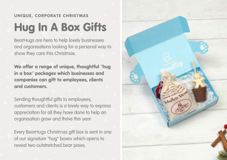 Five Corporate Christmas Gift Ideas Bearhugs Send A Hug In A Box Thinking Of You Gift By Post