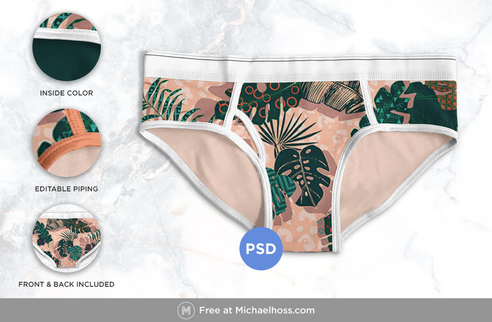 Free underwear mockup | Michaelhoss.com | Graphic design Nashville, TN
