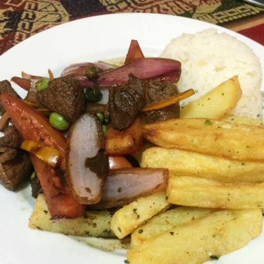 #foodisourfriend local food journal - Lomo Saltado, Cuzco, Peru