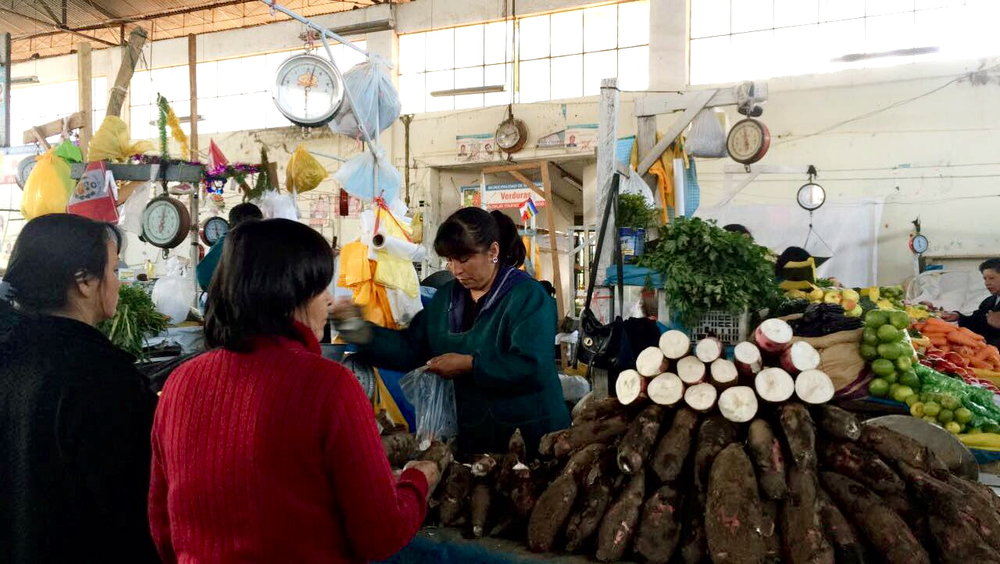 #foodisourfriend travel - local food market Cuzco, Peru
