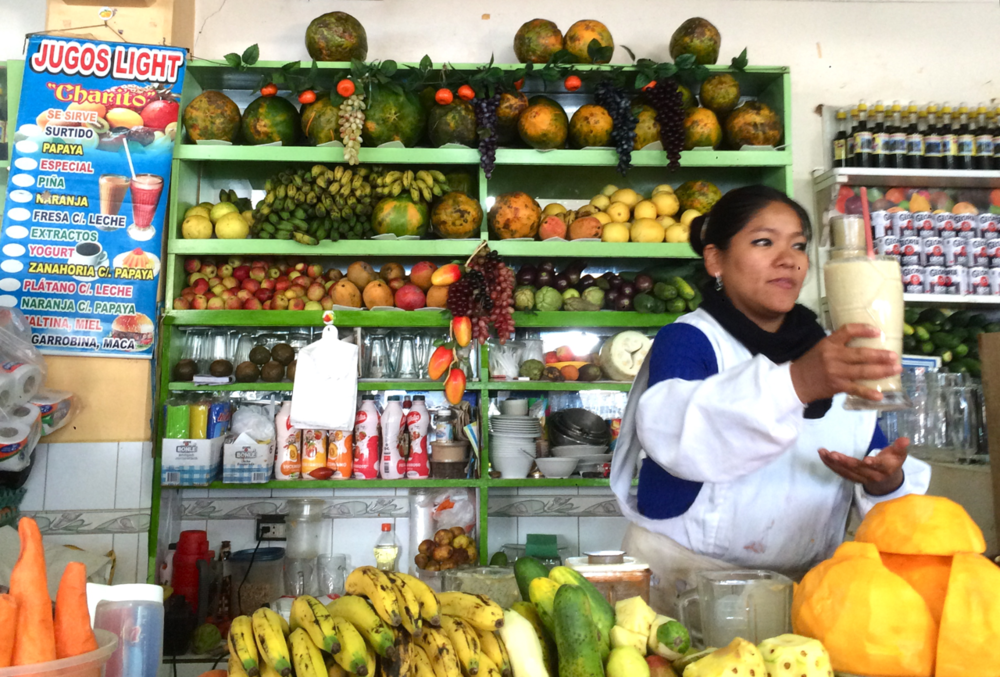 #foodisourfriend travel - Mamita selling jugos, fresh juice