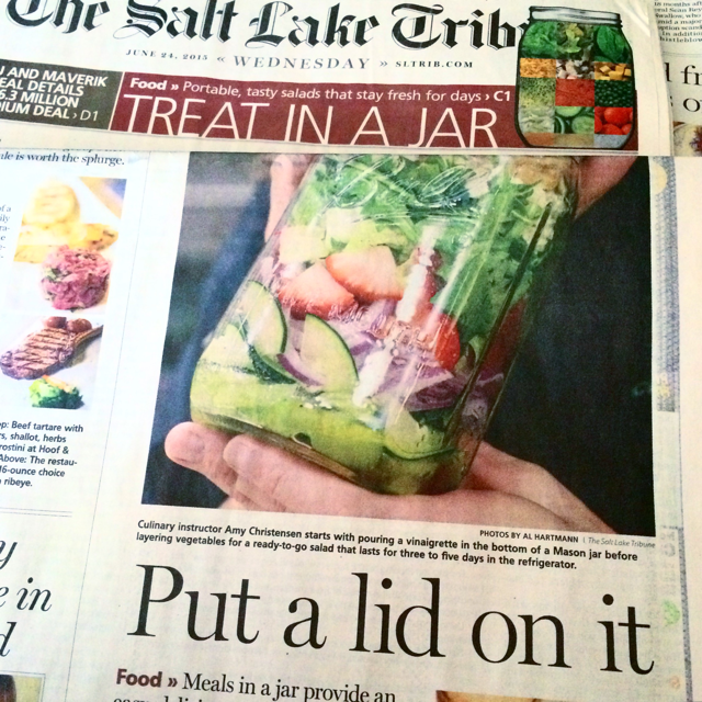 #foodisourfriend press - Salt Lake Tribune Story: Meals in a Jar