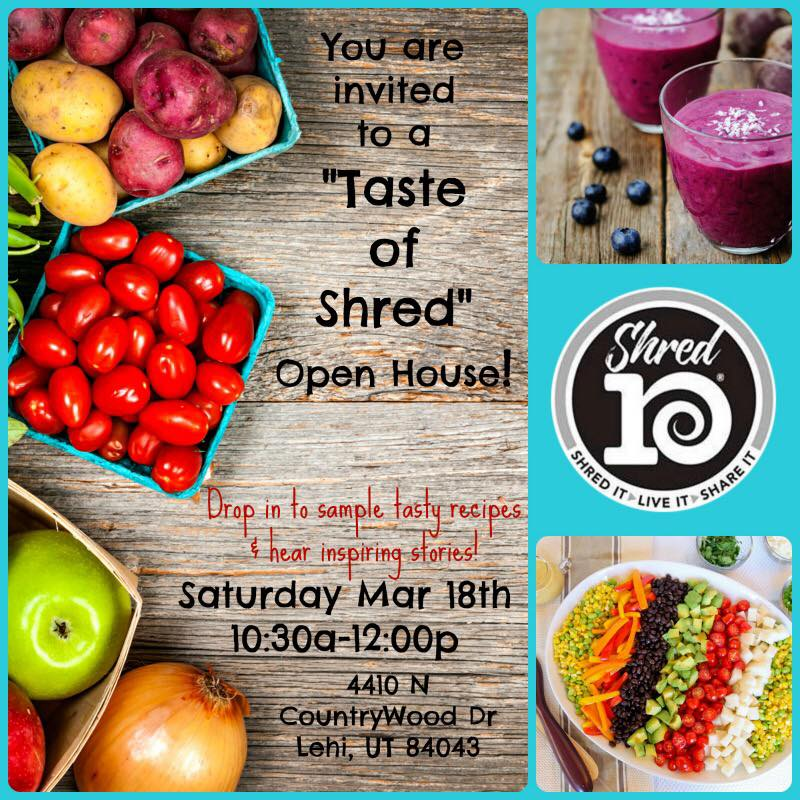 #foodisourfriend Salt Lake City Utah health nutrition event - Taste of Shred Tasting Open House , SLC UT