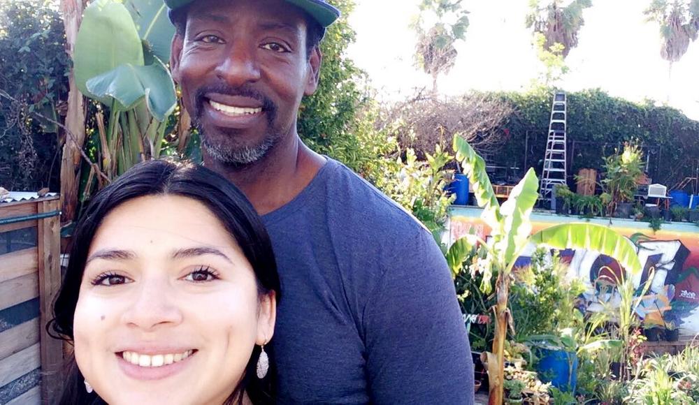 Isabel Mejia (IM Nutrition) Ron Finley (Ron Finley HQ) #foodisourfriend #plantsomeshit LA gardening