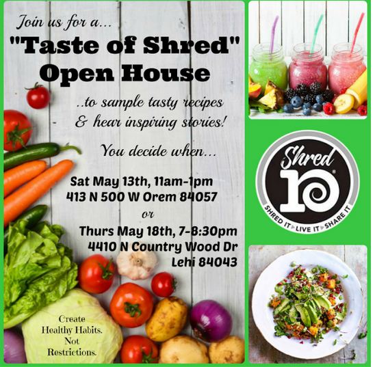 #foodisourfriend shred 10 healthy eating open house UTAH