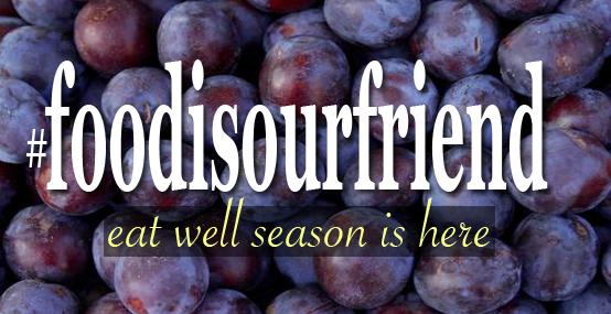 #foodisourfriend seasonal logo