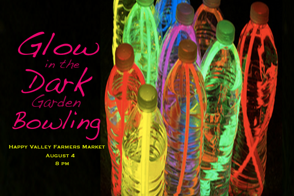 glow in dark garden bowling #growhealthyfood fundraiser