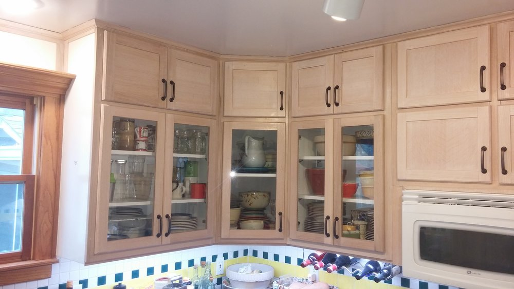 Charmant Kitchen Cabinet Refacing, Red Oak W Antique White Stain