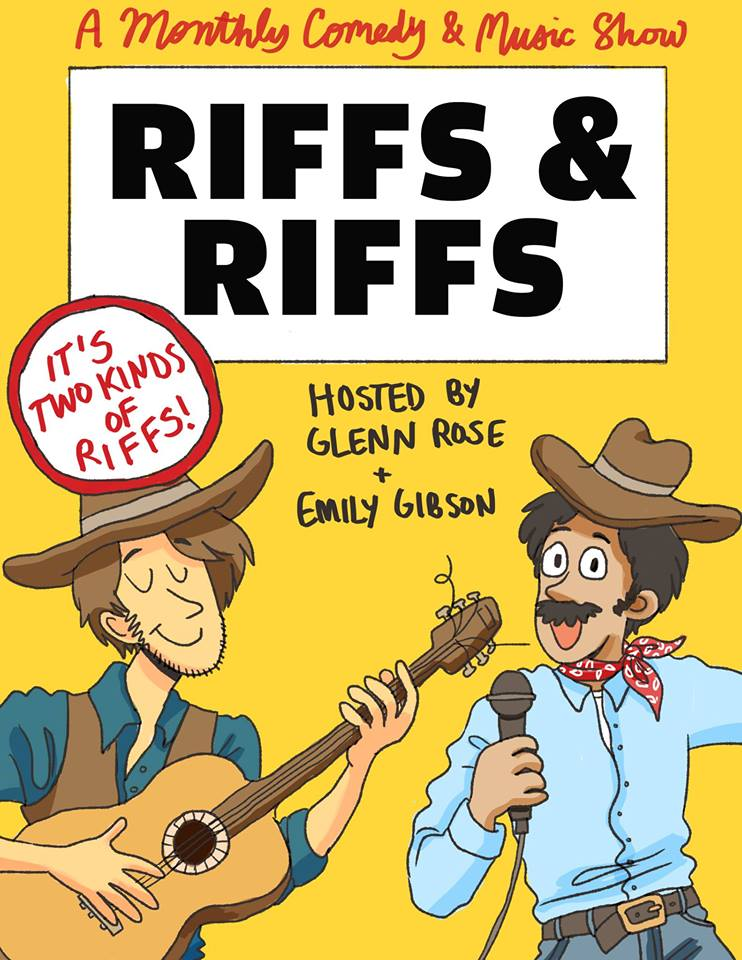 It's time, yet again, for Riffs & Riffs Comedy and Music Show! Coming to you live from Sin City, The City That Never Sleeps, Austin Texas.   As always we've got some killer comics and shredders ready to light up ur Wednesday.  Comedy Lineup: Andrew Clarkston (Host of Chortle Portal)  Pat Dean (Leader of the Velveeta Room/Spite Club) Ron Lechler (Host of Cider House Rulez) Enzo Priesnitz (Funniest Person in Austin 2017) Jared Hawley (Host of Latchkey) Leah Sampson (Host of Hear Me Bitch)  Music Lineup:  Shutterr  https://shutterratx.bandcamp.com/   Born Again Virgins  https://www.bornagainvirginsmusic.com/   Breathing Lessons  https://breathinglessons.bandcamp.com/   Eternal Something  https://eternalsomething.bandcamp.com/   Show starts at 8! Come on down ~ $5   EVENT PAGE