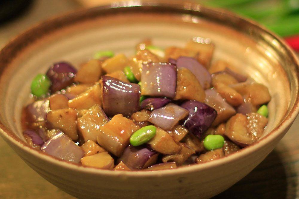 Stir-Fry Eggplant 青豆燴茄子