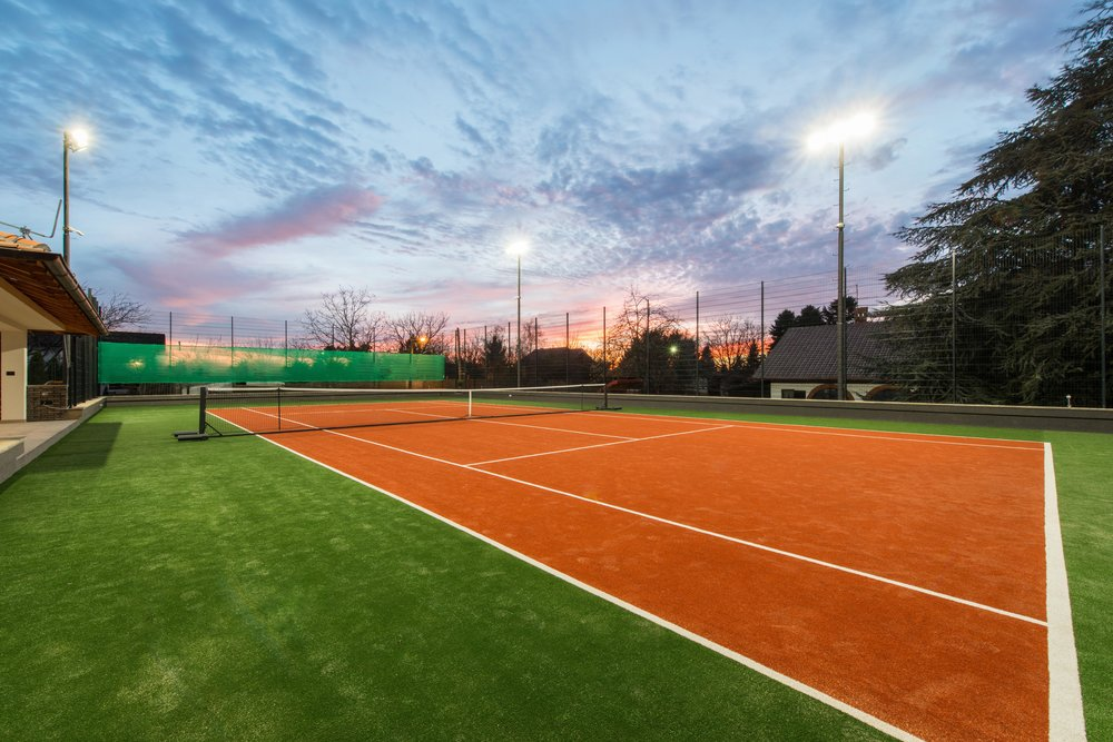 See above a multi-coloured tennis court: We can manufacture grass in almost any colour. Allowing schools, universities, clubs or the private sector that additional touch of customisation. Standing out from the rest. (we can also incorporate logos/emblems into the grass)