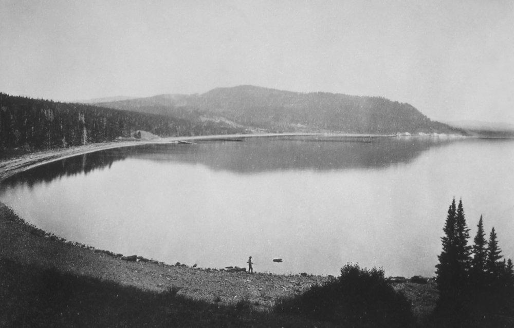 Mary's Bay, Yellowstone Lake; William H Jackson; 1871