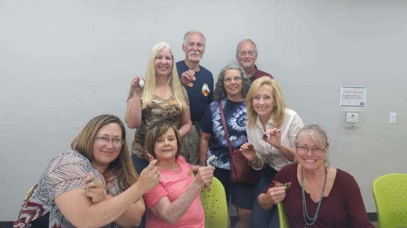 Our Rock Club Members with their beautiful pendants they made in class.