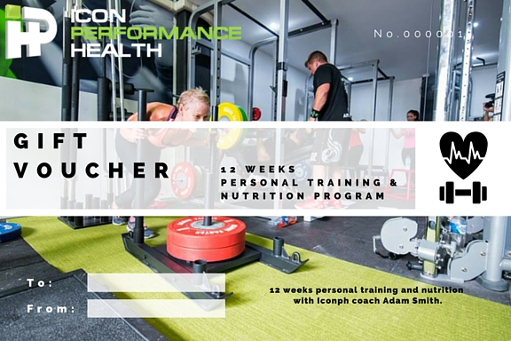 GIFT CERTIFICATES ARE AVAILABLE AT ICON FOR PERSONAL TRAINING PACKAGES.