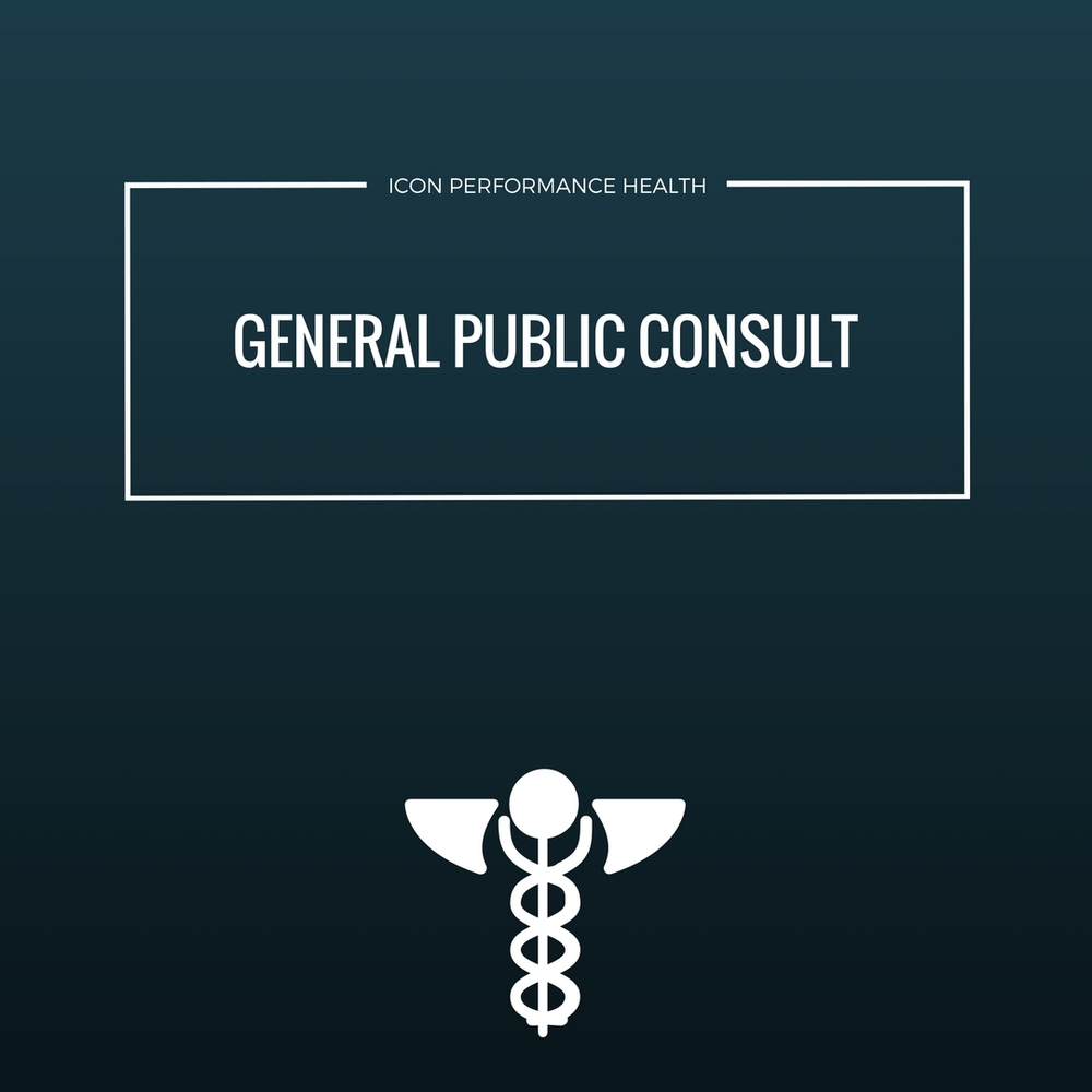 gENERAL population consult:  Routine history and  examination to assess YOUR level of general health and identify any issuesthat may affect training.