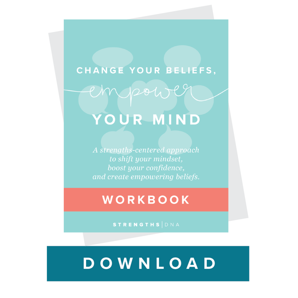 resources strengths dna a workbook designed to help you embrace your strengths and make peace your inner critic includes 5 positive strength affirmations