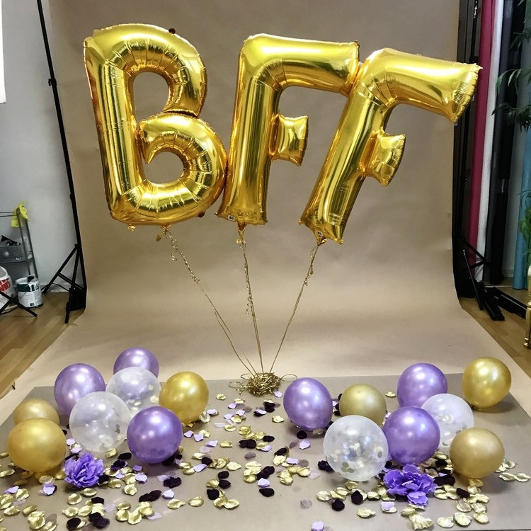 "Scene Design Is Example And Is NOT LIMITED To Color Scheme Presented  Client Provided ""BFF"" Balloons"