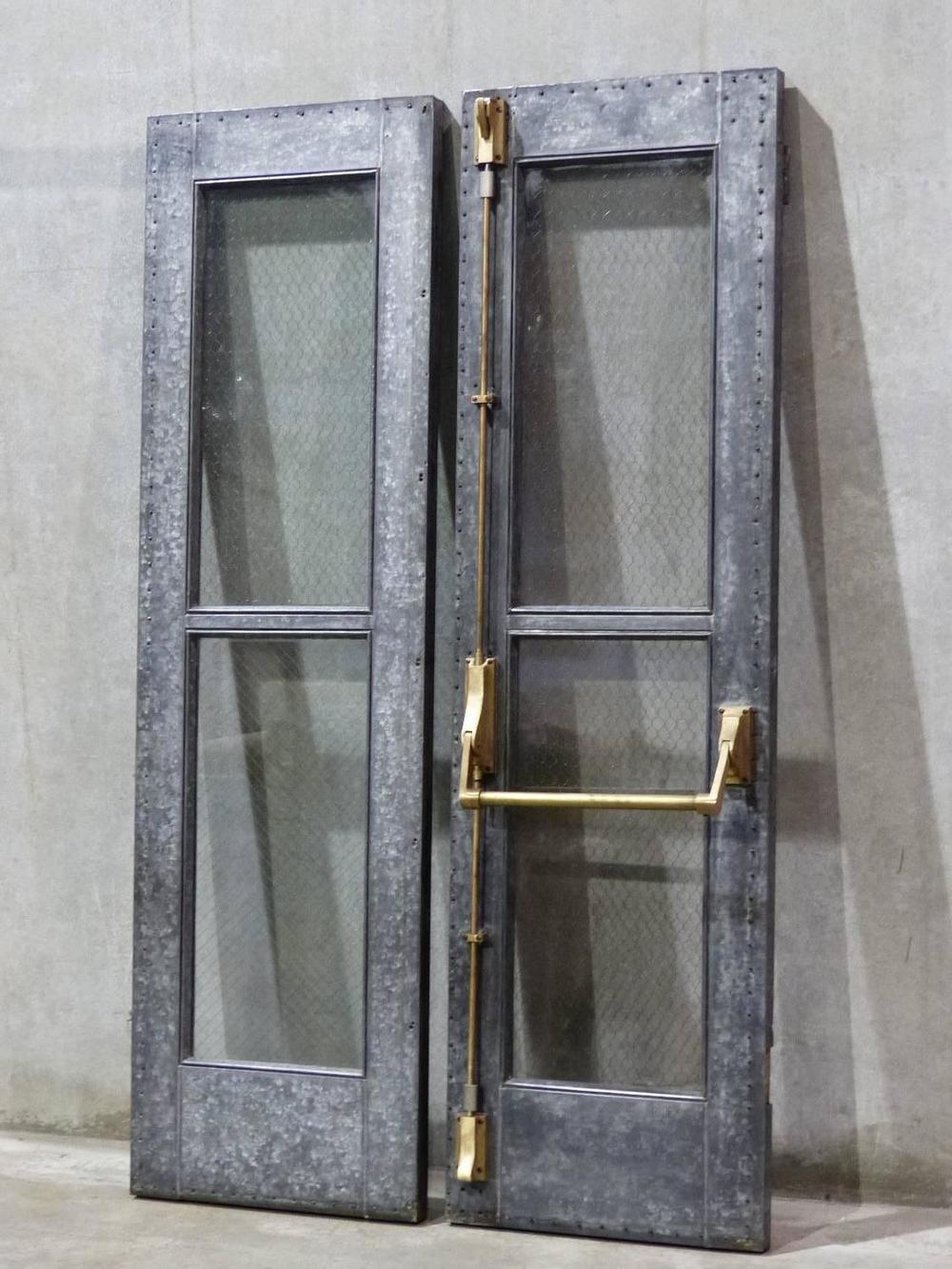 Steel Chicken Wire Glass Doors
