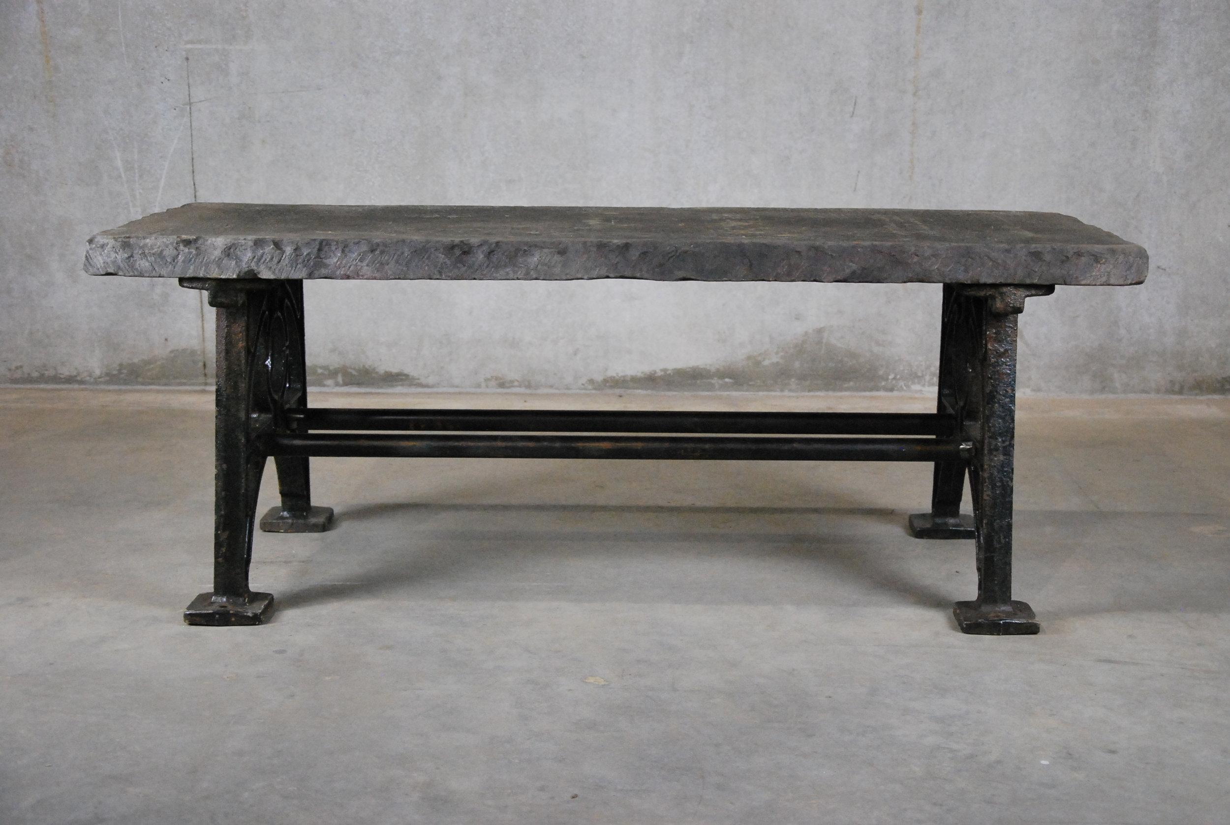 antiques vancouver, vintage lighting-limestone coffee table with