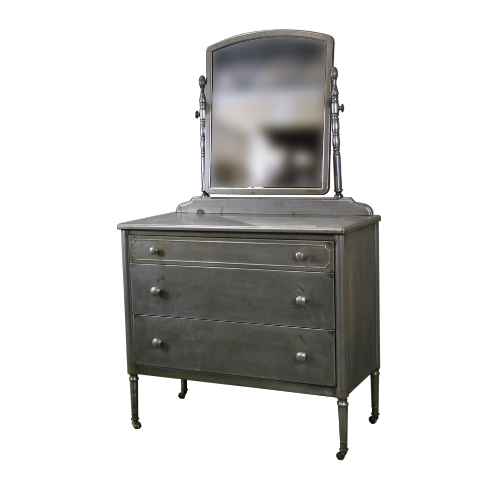 Vtg 1940 50s simmons furniture metal medical 20th Century 1930 Simmons Metal Chest Of Drawers Ebay Scott Landon Antiques Interiors sold