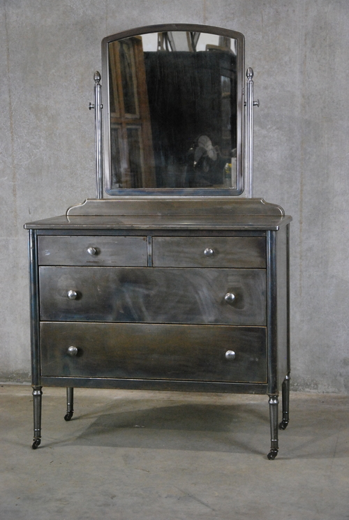 metal industrial furniture. 1930 Simmons Metal Industrial Dresser Furniture G