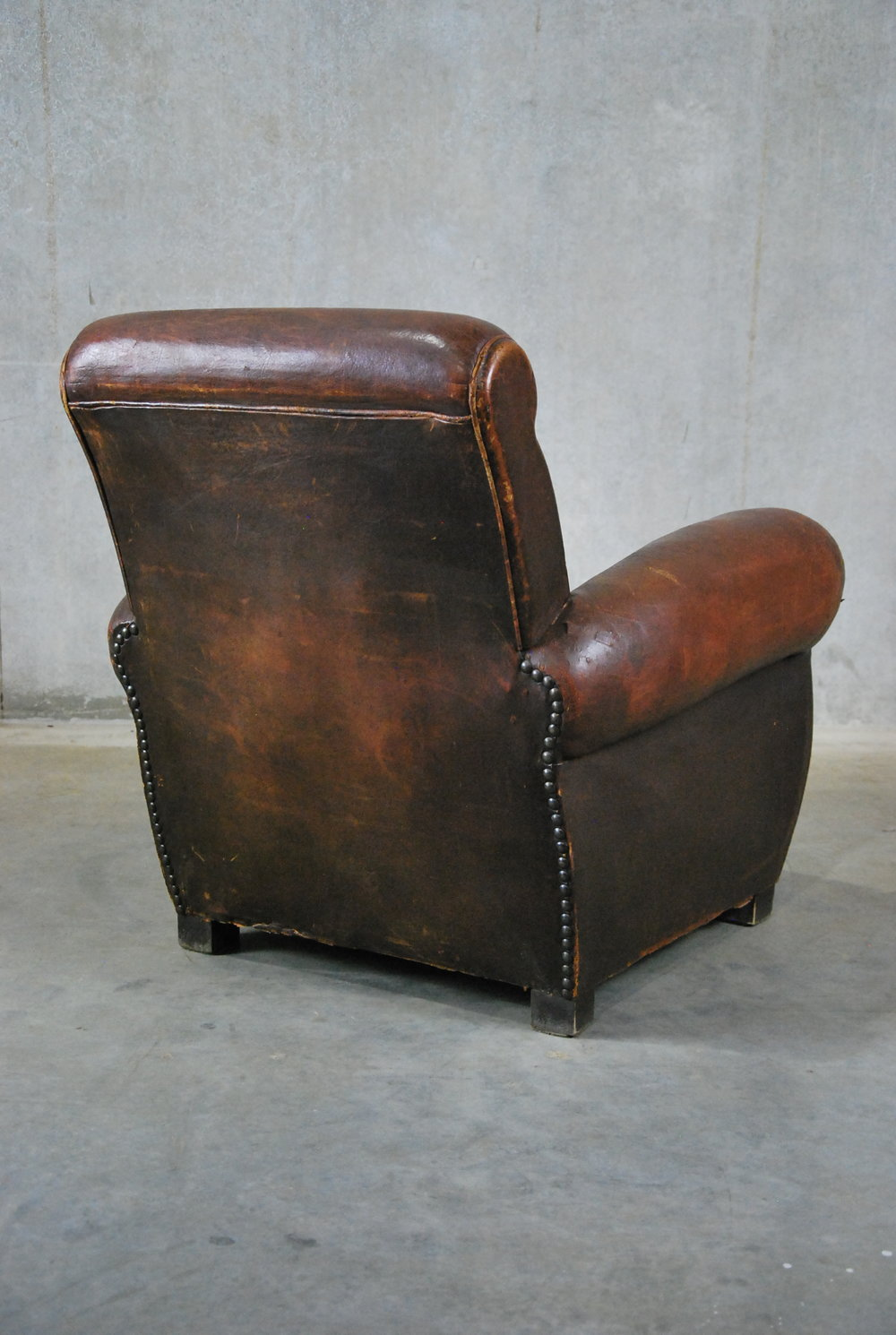 1920 Leather French Club Chair
