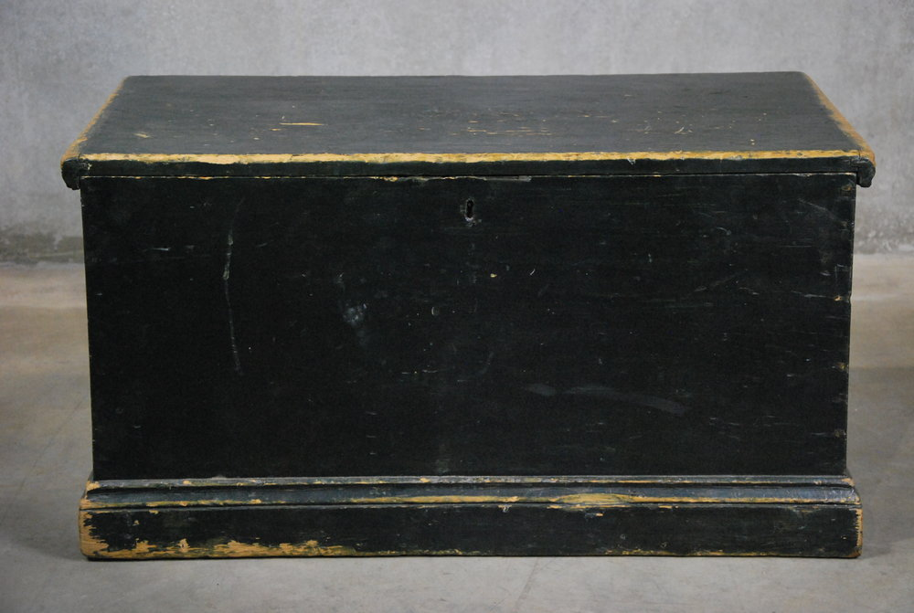 Antiques Vancouver Vintage Lighting 1840 PINE SEA CHEST