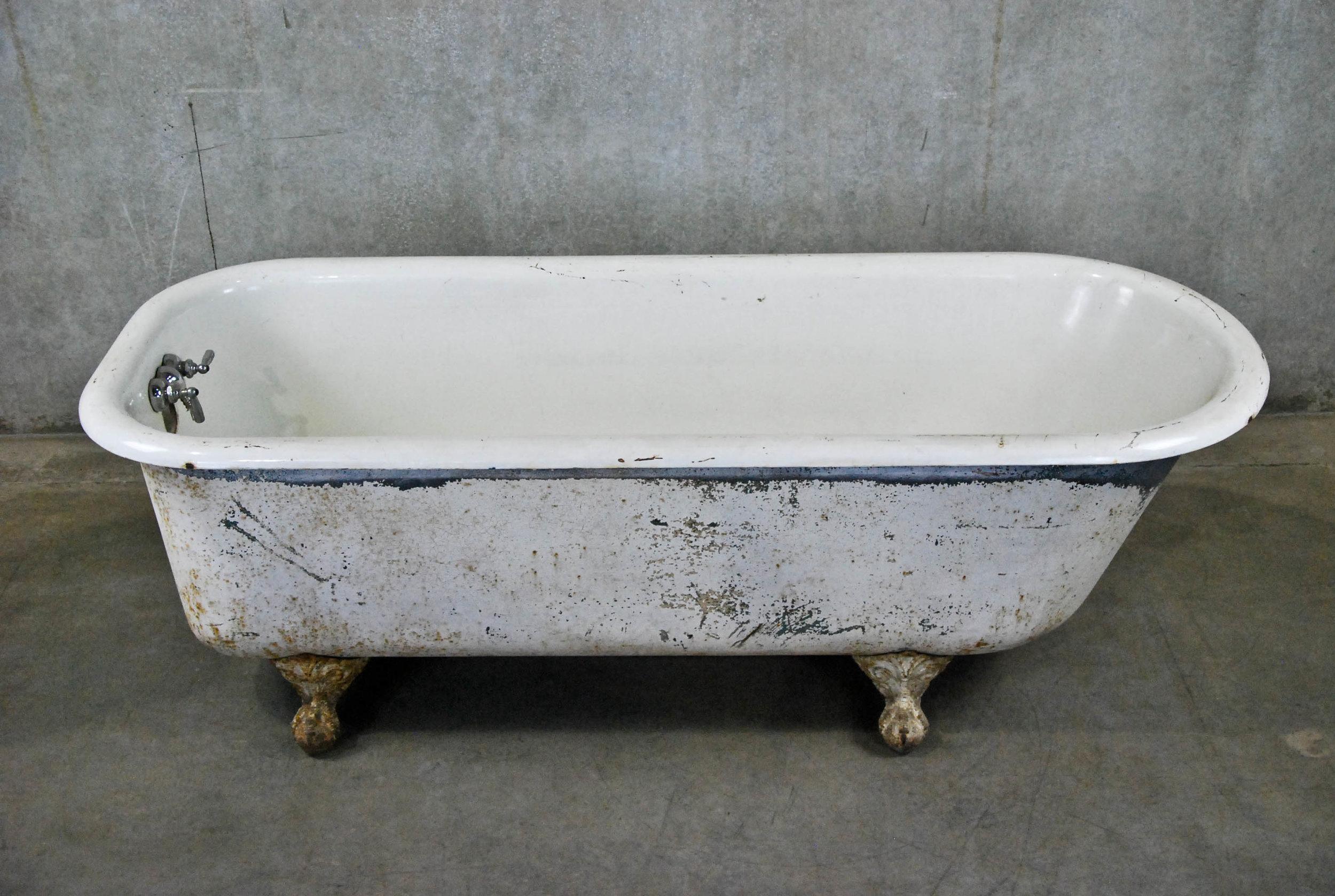 Scott Landon Antiques & Interiors-1900 Oversized Cast Iron Clawfoot Tub