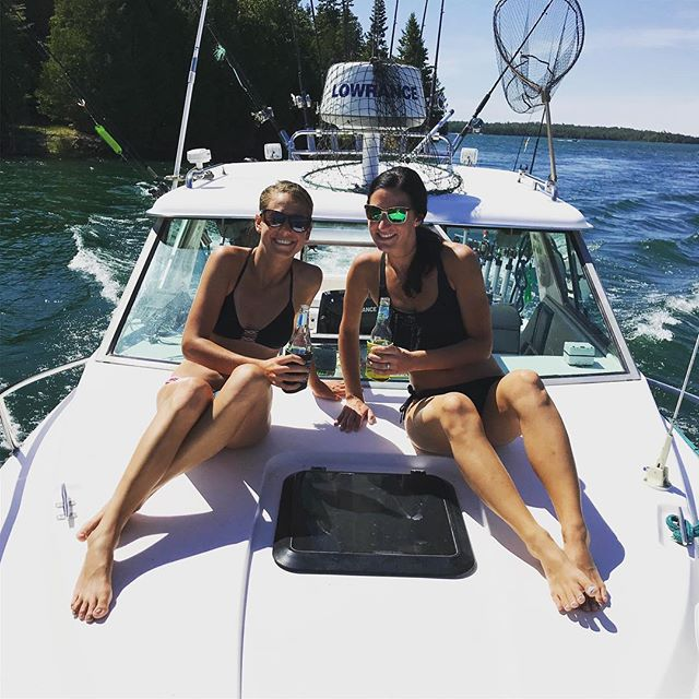 Been a fun #summer and we're going to continue to soak up the #sun ! . . #lowrance #costa #bikini #reelskipper #girlsfishtoo #girlswhofish #shimanoreels #moonshinelures #puremichigan #upperpeninsula #lescheneauxislands #fishing #fishinglife #greatlakes #boat #boatlife