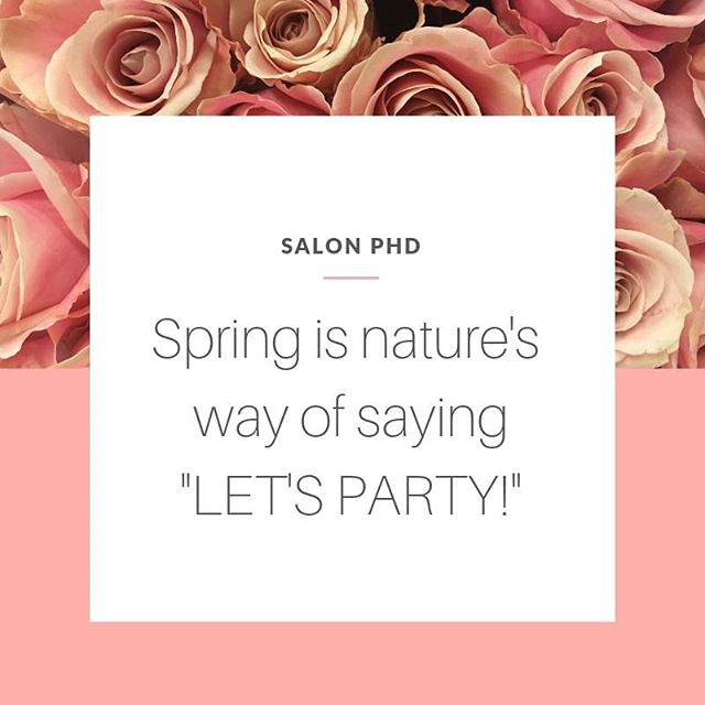So obviously our nails and hair need to be ready to party! 🥳🥂💅💁 . . #springishere #treatyoself #treatyourself #manipedi #manicure #pedicure #mani #pedi #newhair #blowout #haircolor #haircut #salonservices #salonphd #bereaoh
