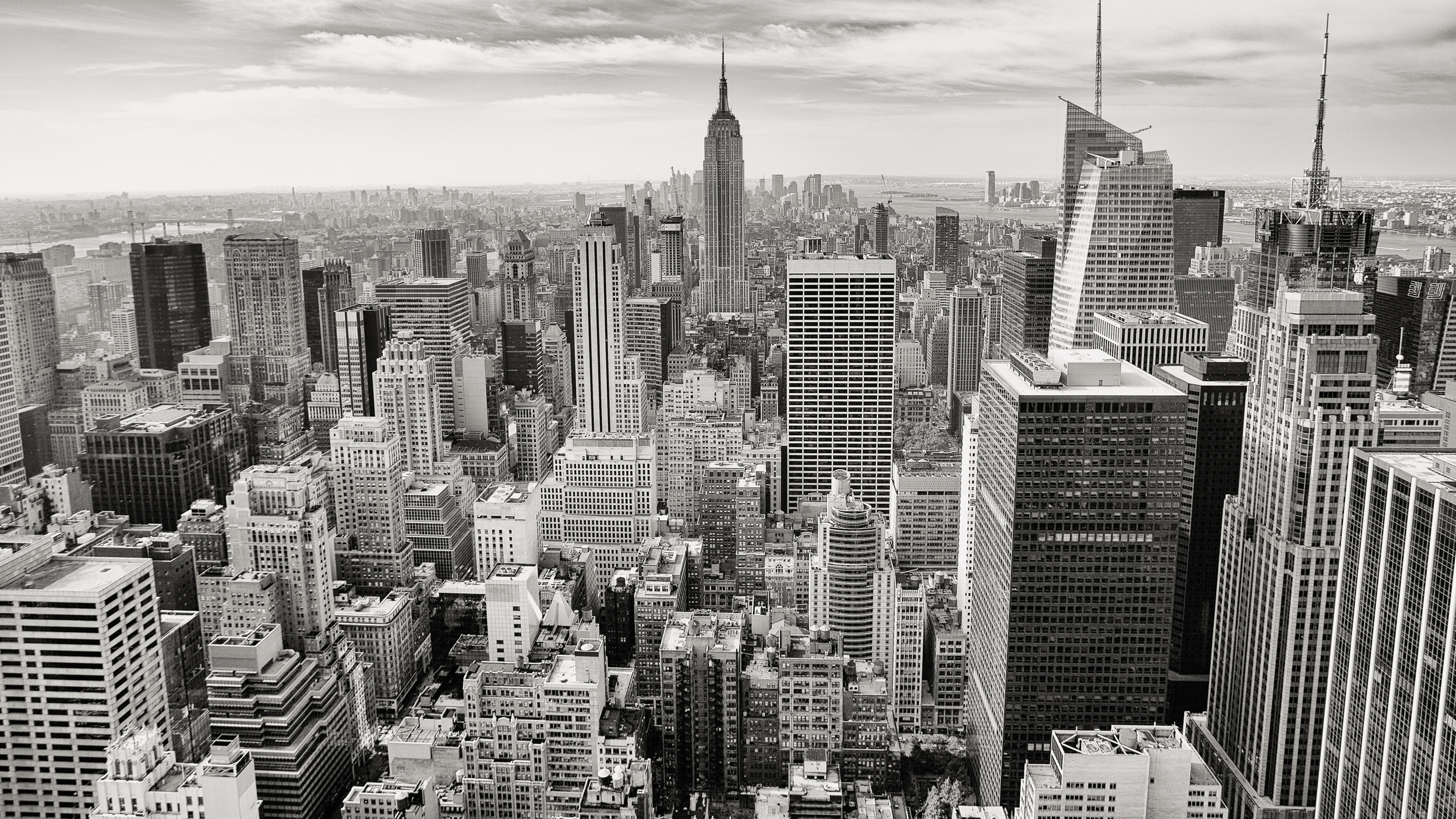 Black and white city skyline buildings jpg