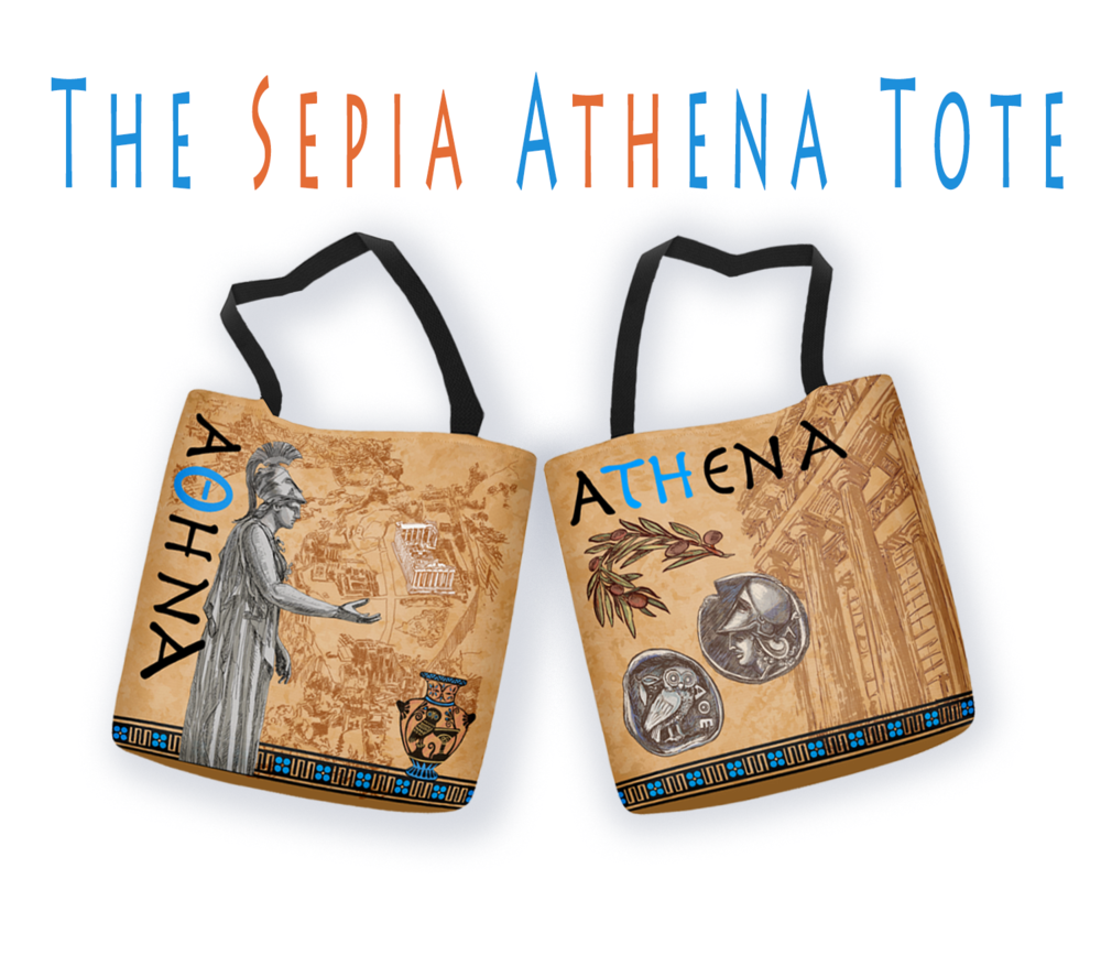 The Athena Tote Sepia