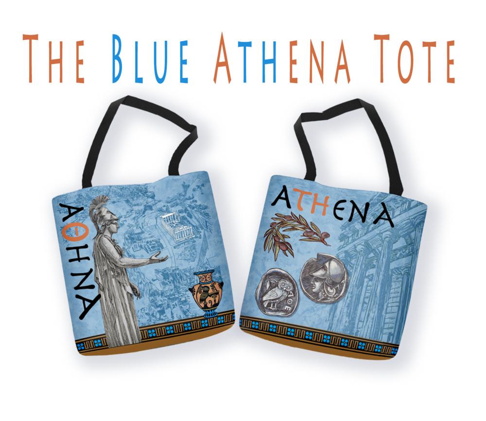 Athena Tote Blue