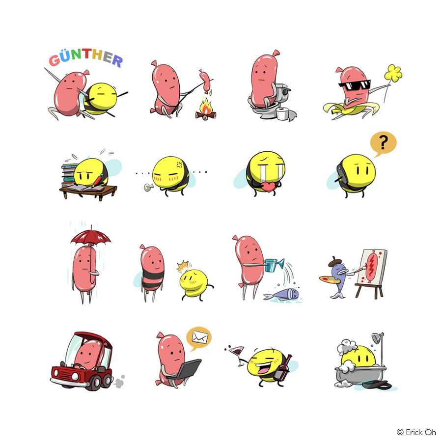 GUNTHER LINE STICKERS