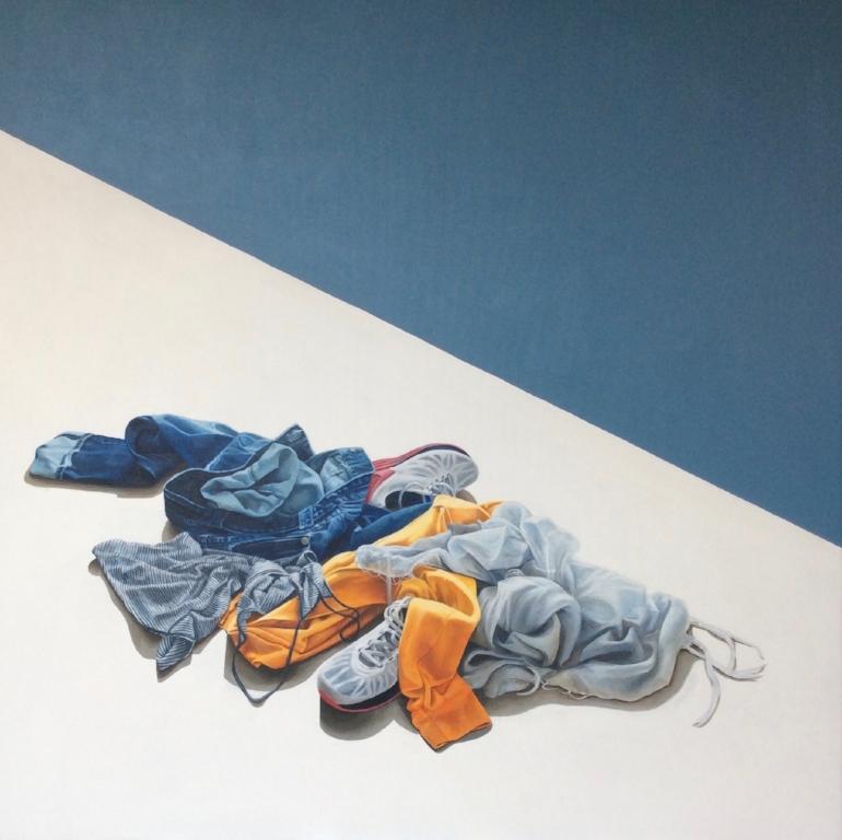 Abandon  Acrylic on Canvas 36 x 36 inches