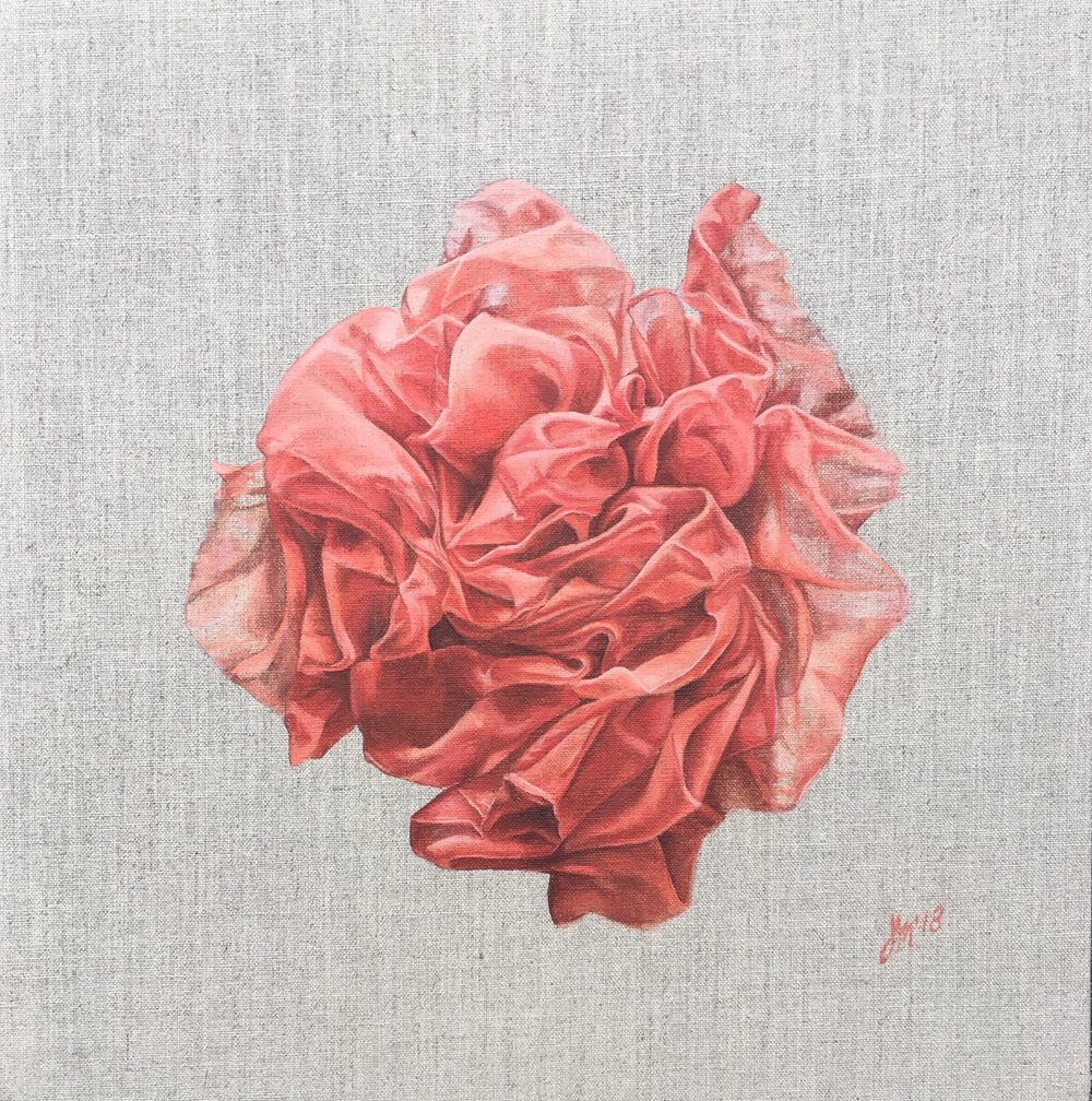 Sheer Pleasure  Acrylic on Linen Board 40 x 40 cm $1100.