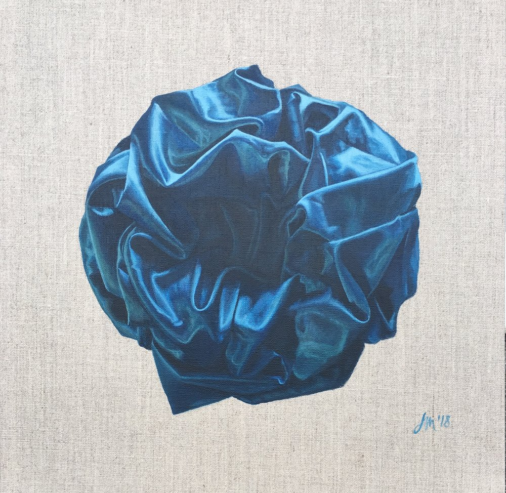 Teal Twist  Acrylic on Linen Board 40 x 40 cm  $1100.