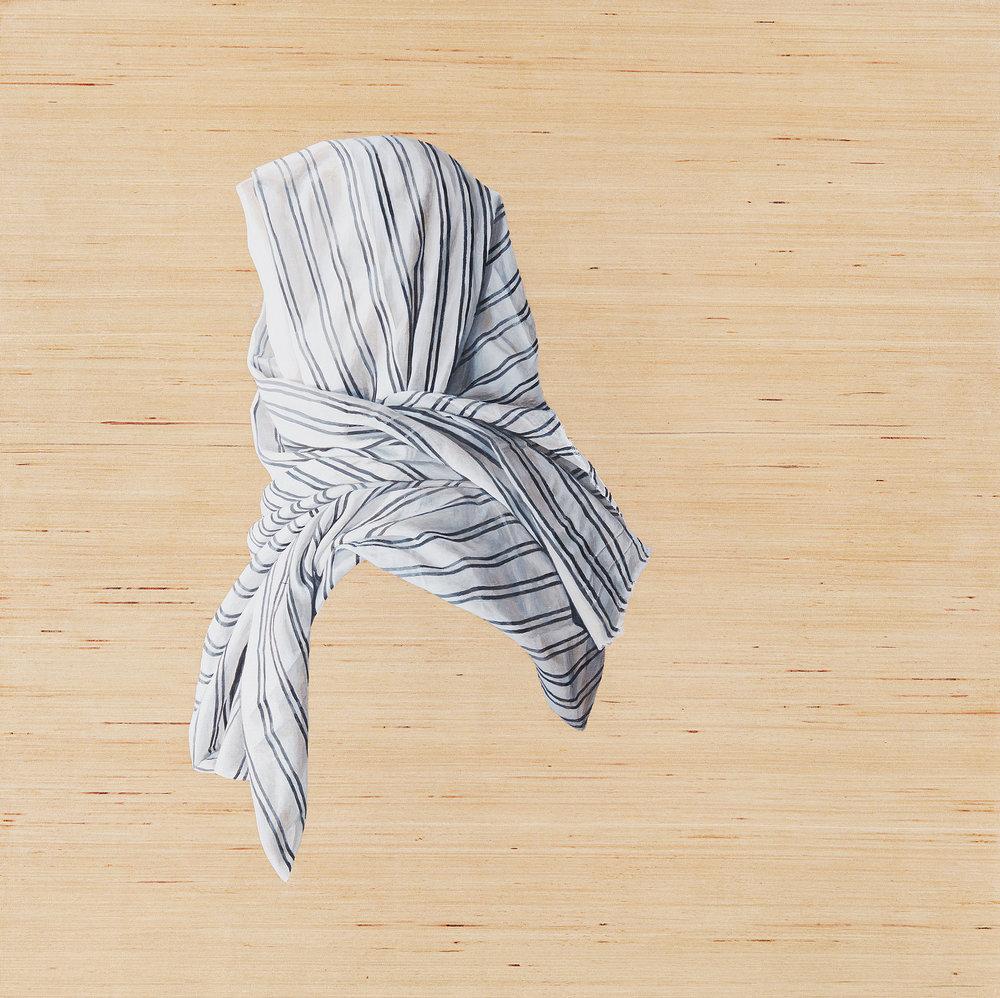 Pinstripe  Acrylic on Board 24 x 24 inches