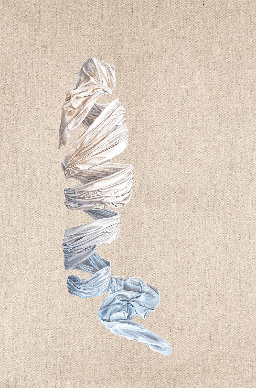 Coming Undone  Acrylic on Linen 36 x 24 inches