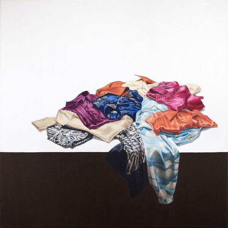 Silk Road  Acrylic on Canvas 36 x 36 inches